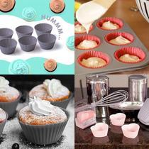 Forma Cup Cake / Muffin/ Mini Bolo em silicone kit/6 unds. - Plasvale