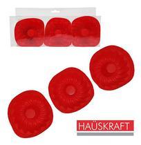 Forma De Silicone Mini Redonda Com 3 Pecas Vermelha Hauskraf - Oem