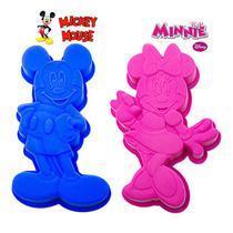 Forma de Silicone Multiuso Mickey e Minnie Bolo - Disney -