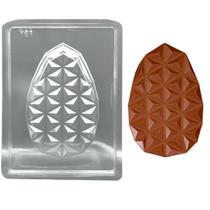 Forma de Silicone Ovo Diamantado Plano - 10cm x 15,5cm - Crystal Forming
