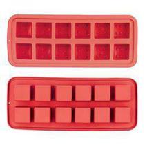 Forma de Silicone para 12 Pedras de Gelo Vermelho - Art