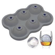 Forma de Silicone para Gelo 6 Esferas - Facibom