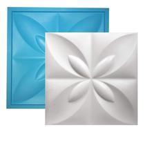 Forma de Silicone para placas de gesso 3D Flor do Oriente 34x34 - Silico Home