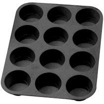 Forma em Silicone 12 Cavidades Preta  Kehome -