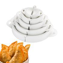 Forma Molde Pastel Salgados Risole Kit 5 Tamanhos Branco Cozinha prática - Keita