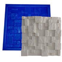 Forma Mosaico Borracha E Plástico Placa Gesso - Lindissímo - Xmoldes Formas 3D
