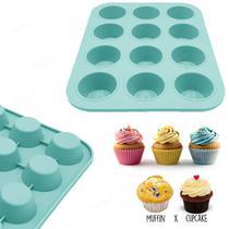 Forma Para 12 Mini Bolos Cupcake, Muffins e Petit Gateau - Facibom