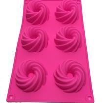 Forma para cupcake 6 cavidades em silicone - Amoroza