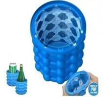 Forma para Gelo com Balde Ice Cube Azul Faz 40 Cubos de Gelo - Mkb