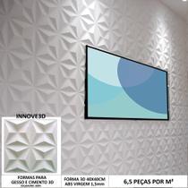 Forma Para Gesso 3D Mini Cullinans 4 Estrelas 40X40cm - INNOVE3D
