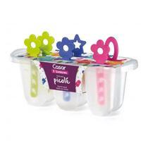 Forma para Picolé de Plástico com Palitos Coloridos para 6 Sorvertes - Sanremo