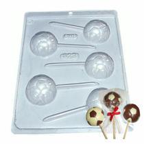 Forma para Pirulito de Chocolate Bola Ref. 322 - Pacote 5 formas - Bwb Embalagens