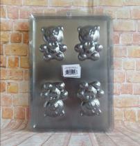 Forma Sabonetes Ursinho - Com 4 Cavidade  Kit 3 Cartelas - Bianquimica