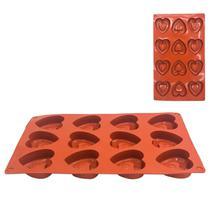 Forma Silicone Coração P/ Trufas Chocolate Artesanal Pascoa - 123Util
