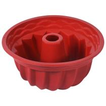 Forma Silicone Pudim Bolo Quente Frio Flexível Antiaderente Espiral Com Furo Vazada 22 x 11 cm - Sunflower