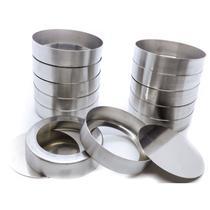 Forminha para Quiche com Fundo Falso em Alumínio 8,5 cm com 12 Peças Doupan -