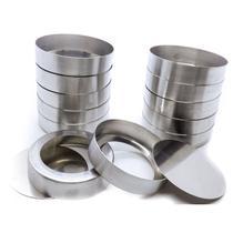 Forminha para Quiche com Fundo Falso em Alumínio 9,8 cm com 12 Peças Doupan -