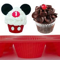 Forminhas de Silicone Assadeira Bolo Cupcake Forma Mini Bolo - Facibom