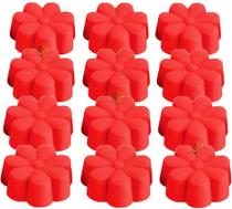 Forminhas Mini Forma Silicone Florzinha Cupcake Tortinha Muffin Bolinho - Kit 12 forminhas - Unyhome