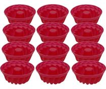 Forminhas Mini Forma  Silicone Pudim Tortinha Bolinho - Kit 12 forminhas - UnyHome