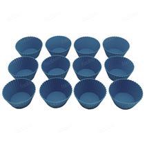 Forminhas Para Mini Cupcake Bolo Muffin Silicone 12 Peças - Facibom
