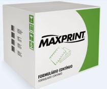 Formulário Continuo 1 via, 80 Colunas, Microsserilhado Razão, Branco - 240x140mm com 6.000 Folhas - Maxprint