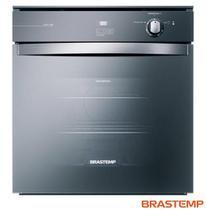 Forno à Gás de Embutir Brastemp 78L (liquidas) 84L (Bruto) de Capacidade, Grill e Timer Touch Inox Espelhado  - BOA84AE -