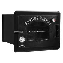 Forno A Lenha De Embutir Industrial Pinhal 1-39 Retangular Preto -
