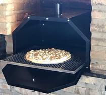 Forno de Pizza para Churrasqueira 60x45 com Grelha e Assadeira Pintado - Loja Virtual Lumaqmetal