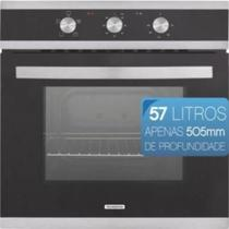 Forno Elétrico de Embutir Vidro 3 Funções 57 Litros 220V Preto GLASS BRASIL B 60 F3 STANDARD - Tramontina