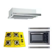 Forno Embutir 45L Depurador Embutir Cooktop Amarelo Safanelli -