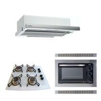 Forno Embutir 45L Depurador Embutir Cooktop Branco Safanelli -