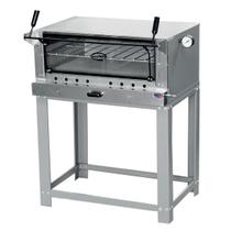 Forno Industrial para Pizza à Gás 130 Litros Com Pedra Refratária, Termômetro e Porta Guilhotina - Cristal Aço