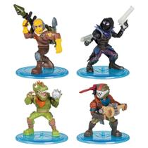 Fortnite - Mini Figuras com 4 - Raptor, Rust Lord, Rex e Raven - Fun -