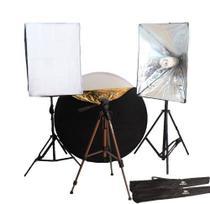 Fotografia de Moda - Luz Continua Softbox c/ Rebatedor 5 em 1 (10 pçs) - 110v - Tudoprafoto