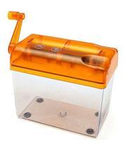 Fragmentadora Triturador Picador Papel Manual Compacto Tampa Laranja - Tiger Gifts