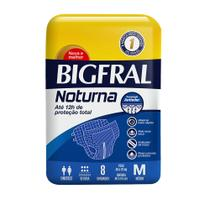 Fralda Adulta Bigfral Noturna M - 8 Unidades -