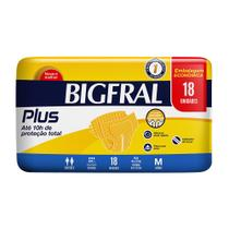 Fralda Adulta Bigfral Plus M - 18 Unidades