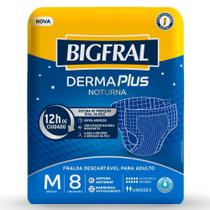 Fralda Adulto Bigfral Plus Noturna Media - 8 pacotes c/ 8 unidades -