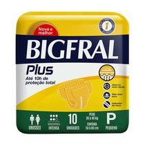 FRALDA ADULTO BIGFRAL PLUS TAMANHO P 10 unidades -