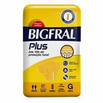 Fralda ADULTO Descartável BIGFRAL PLUS G 8 unidades -