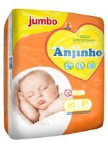 Fralda Anjinho Jumbo Tam. P c/ 60 unidades Parentex -
