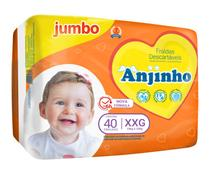 Fralda Anjinho Jumbo Tam. XXG c/ 40 unidades Parentex -