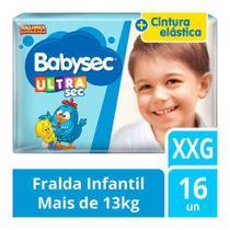 FRALDA BABYSEC GALINHA PINTADINHA JUMBO XXG / 16 un -