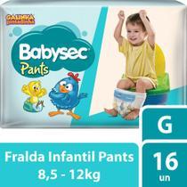 Fralda Babysec Galinha Pintadinha Pants G 16 Fraldas -