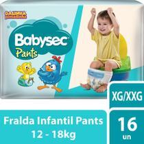 Fralda Babysec Galinha Pintadinha Pants Xg/Xxg 16 Fraldas -