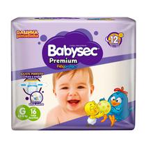 Fralda BabySec GALINHA PINTADINHA Premium - G - 16 unids - Experimente e se Surpreenda - Softys