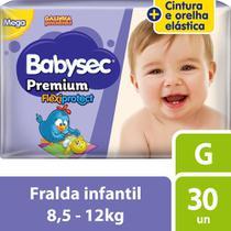 Fralda Babysec Galinha Pintadinha Premium G Com 30 Fraldas -