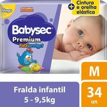 Fralda Babysec Galinha Pintadinha Premium M Com 34 Fraldas -
