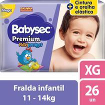 Fralda Babysec Galinha Pintadinha Premium Xg Com 26 Fraldas -